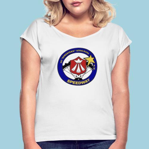 MCN Logo beidseitig - Frauen T-Shirt mit gerollten Ärmeln