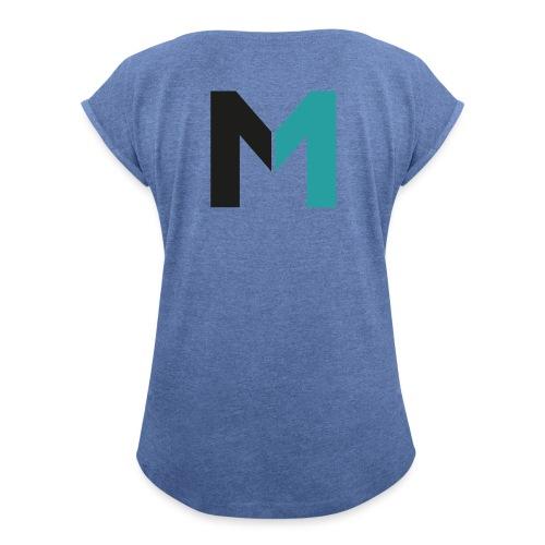 Logo M - Frauen T-Shirt mit gerollten Ärmeln
