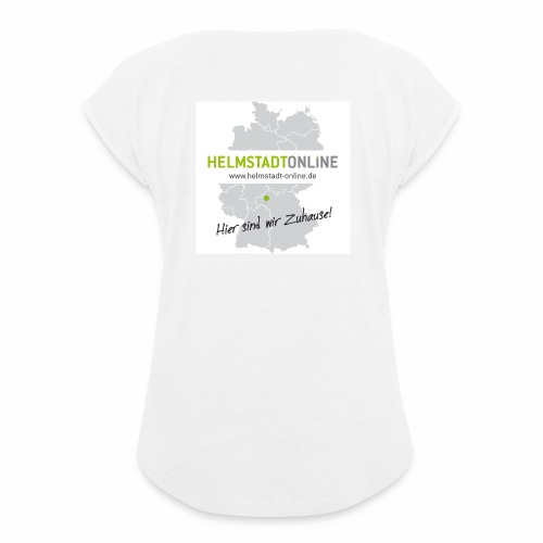 HO Landkarte - Frauen T-Shirt mit gerollten Ärmeln