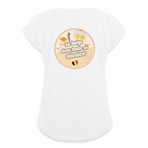 logo Le belge - T-shirt à manches retroussées Femme