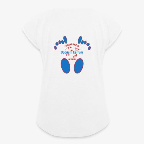 Donnum Ferrum - T-shirt med upprullade ärmar dam
