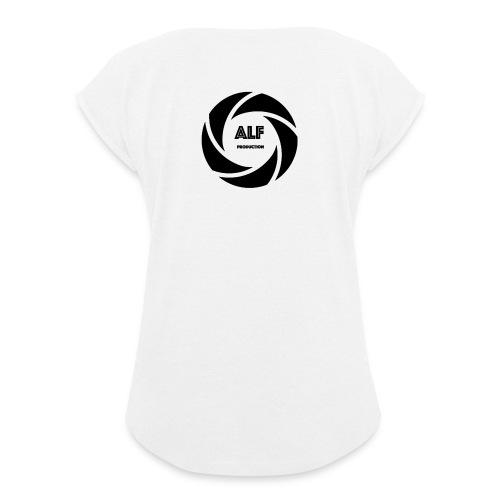 Logo Nero - Maglietta da donna con risvolti