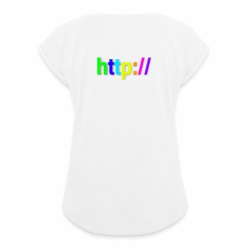 T-SHIRT Potocollo HTTP - Maglietta da donna con risvolti