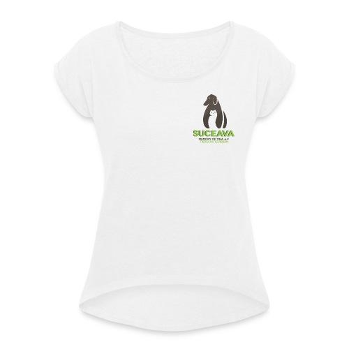 suc logo 300dpi - Frauen T-Shirt mit gerollten Ärmeln