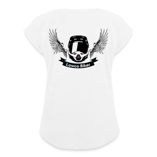 Lowco Biker - T-shirt à manches retroussées Femme