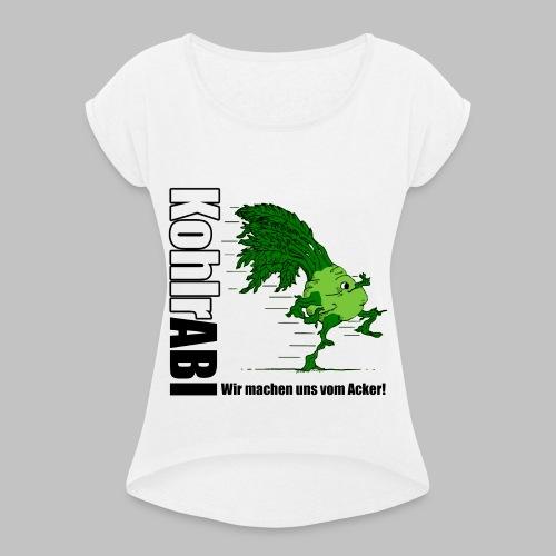 ABI-TSHIRT Kohlrabi - Frauen T-Shirt mit gerollten Ärmeln