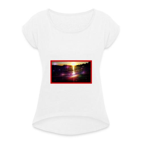 toulon plage - T-shirt à manches retroussées Femme