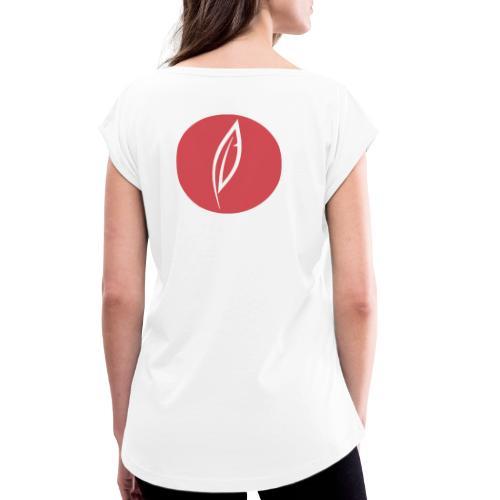 Logo - Rond rouge (dos) - T-shirt à manches retroussées Femme