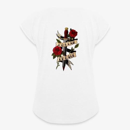 Collab'Idéale - T-shirt à manches retroussées Femme