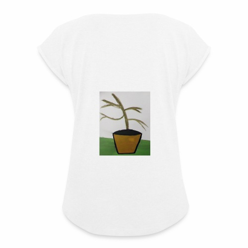 Plant - Women's T-Shirt with rolled up sleeves