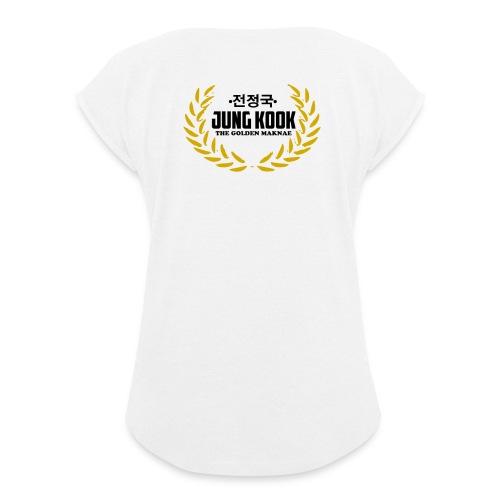 JK The Golden Maknae - Frauen T-Shirt mit gerollten Ärmeln