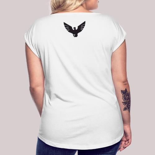 Aguila - Camiseta con manga enrollada mujer