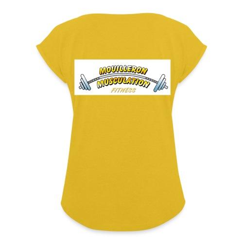 mouilleron muscu logo pour tee shirt 311 - T-shirt à manches retroussées Femme