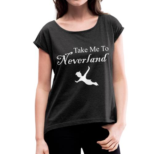 Neverland - Camiseta con manga enrollada mujer