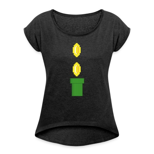 Pipeline Coin - Camiseta con manga enrollada mujer