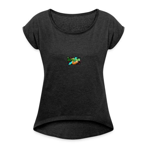 Slither.io - T-shirt à manches retroussées Femme