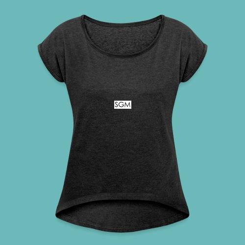 sgm - T-shirt à manches retroussées Femme