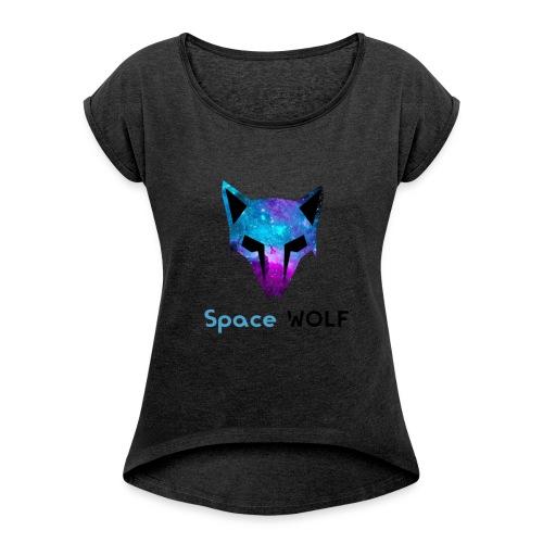 space wolf galaxy - Camiseta con manga enrollada mujer