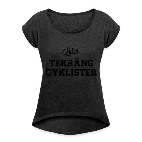Luleå Terrängcyklister - T-shirt med upprullade ärmar dam
