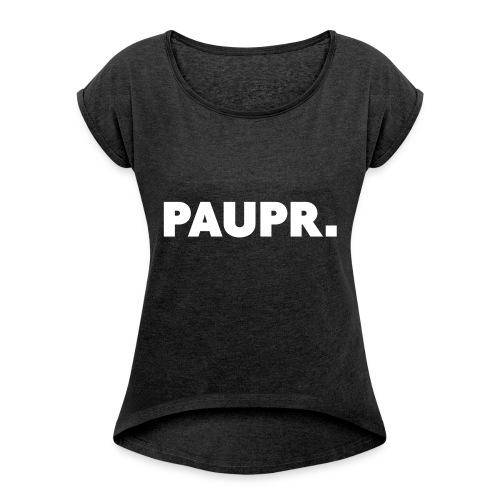 PAUPR. - Vrouwen T-shirt met opgerolde mouwen