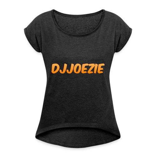 Djjoezie - Vrouwen T-shirt met opgerolde mouwen