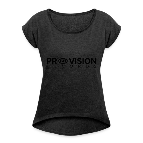 Provision T-Shirt (White) - Women's T-shirt with rolled up sleeves