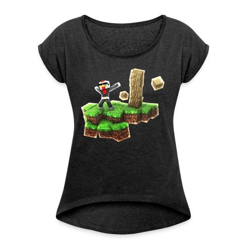 HenkDeKip Eiland - Vrouwen T-shirt met opgerolde mouwen
