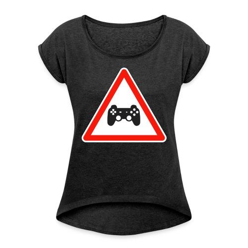 cedezaujeux - T-shirt à manches retroussées Femme