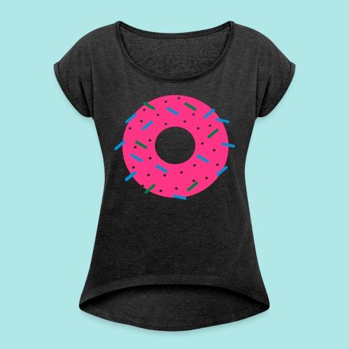 DONUT - Camiseta con manga enrollada mujer