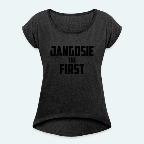 jangosiethefirst pet - Vrouwen T-shirt met opgerolde mouwen