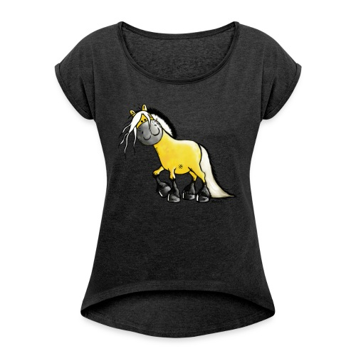 fjord_horse - Women's T-shirt with rolled up sleeves