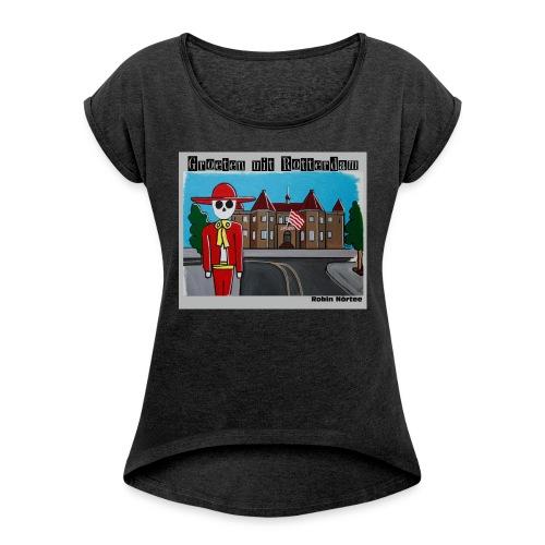 sparta - Vrouwen T-shirt met opgerolde mouwen