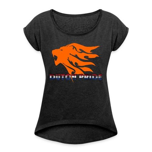 DutchPride - Vrouwen T-shirt met opgerolde mouwen