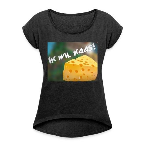 DeGeldigeKaas Merchandise - Vrouwen T-shirt met opgerolde mouwen