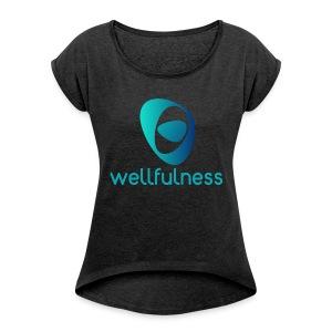 Wellfulness Original - Camiseta con manga enrollada mujer