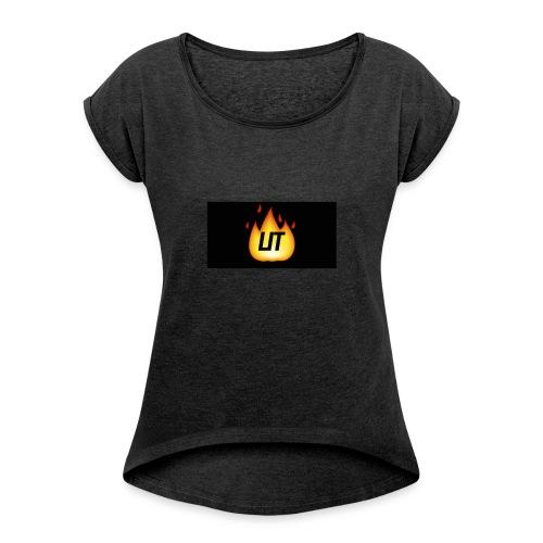 LIT - T-shirt med upprullade ärmar dam