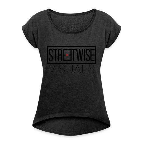 Streetwise Visuals   LONGFIT - Vrouwen T-shirt met opgerolde mouwen