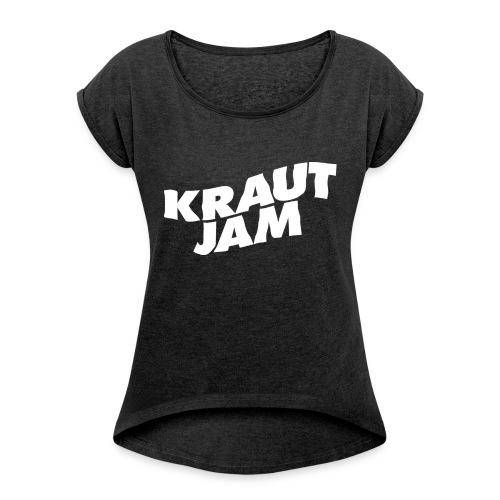 Original KrautJam'16 - Frauen T-Shirt mit gerollten Ärmeln