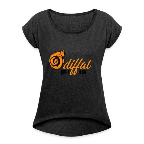 Odiffat Drift Team - T-shirt med upprullade ärmar dam