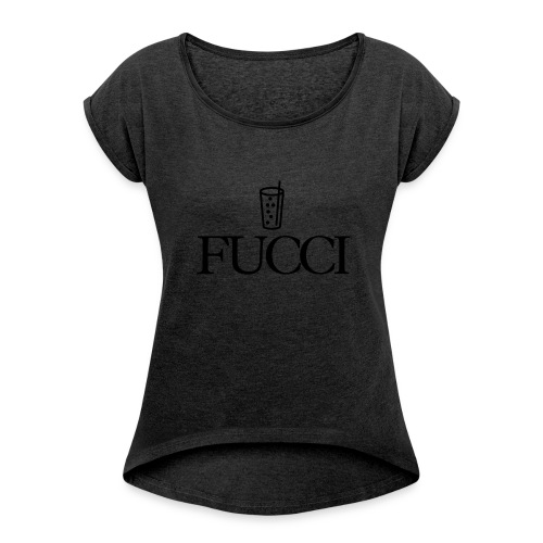 Fucci - Frauen T-Shirt mit gerollten Ärmeln