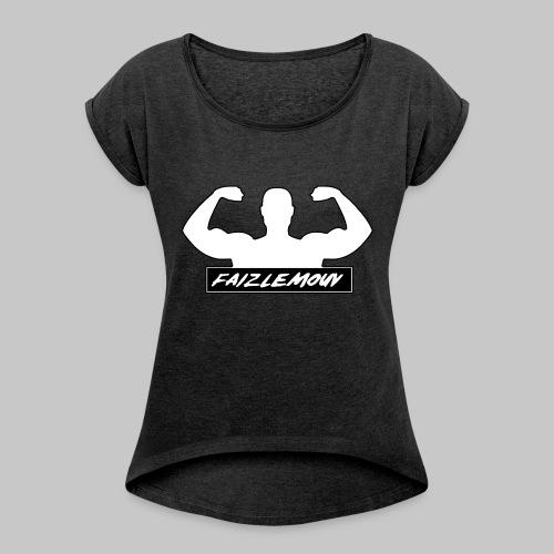 Faizlemouv - Vrouwen T-shirt met opgerolde mouwen