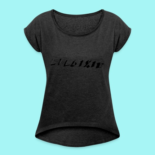 Martyric Logo Design Top Right - Women's T-shirt with rolled up sleeves