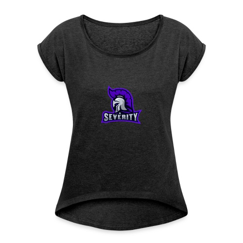 serverityggpnglogo-clothing - Women's T-shirt with rolled up sleeves