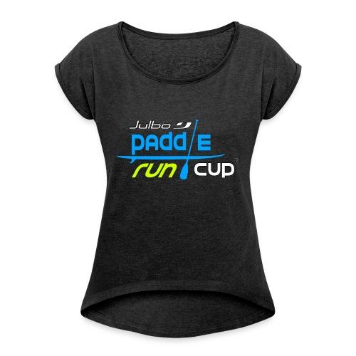 SPREADSHIRT_Logos_Paddle_Run_v3_-3- - T-shirt à manches retroussées Femme