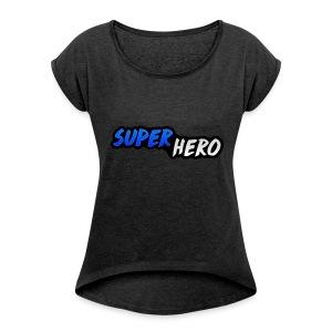 SuperHeroMerchandise - Vrouwen T-shirt met opgerolde mouwen
