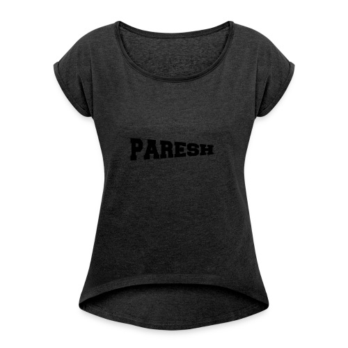Paresh - Women's T-shirt with rolled up sleeves