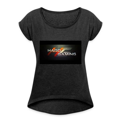 HG Logo - Frauen T-Shirt mit gerollten Ärmeln