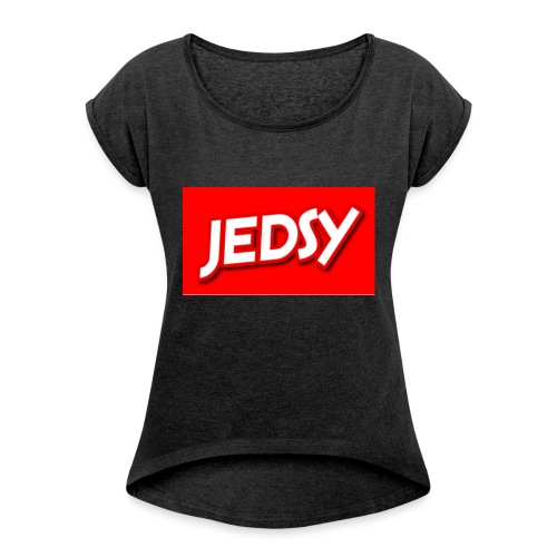 JEDSY - Women's T-shirt with rolled up sleeves