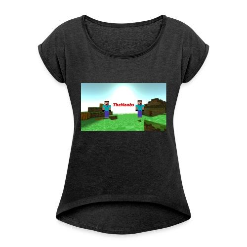 Klær - T-skjorte med rulleermer for kvinner