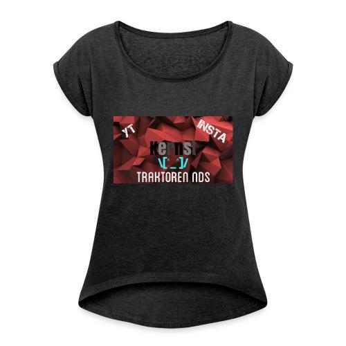 Kernst - Frauen T-Shirt mit gerollten Ärmeln